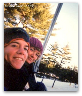 Skiing with Jess after her diabetes diagnosis