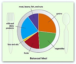 A balanced diet for kids -Courtesy Nutrition Education