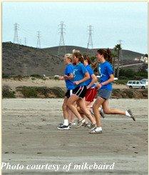 running at the beach is always best